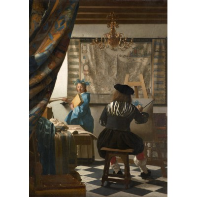 grafika-Puzzle - 1000 pieces - Johannes Vermeer - The Allegory of Painting, 1666-1668