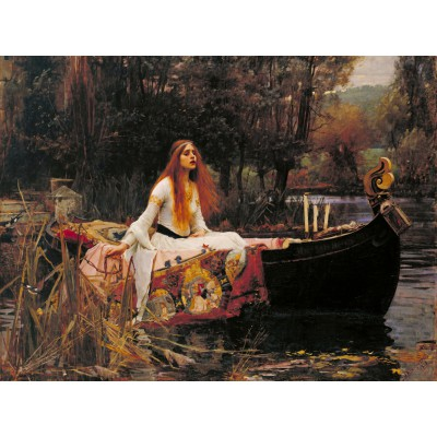 Puzzle  Grafika-00162 Waterhouse John William : The Lady of Shalott, 1888