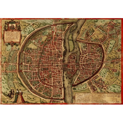 Puzzle  Grafika-00165 Map Of Paris, 1572