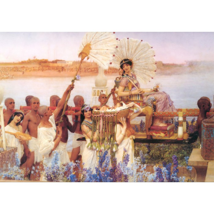 Puzzle Grafika-00169 Sir Lawrence Alma-Tadema : The Finding of Moses