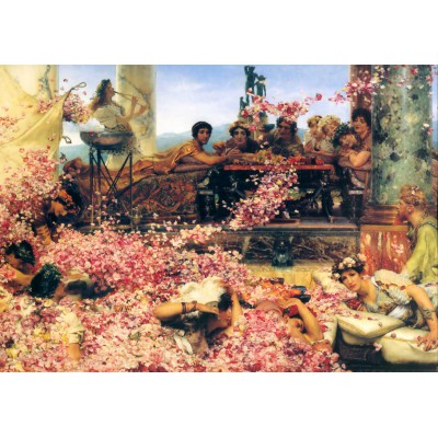 grafika-Puzzle - 1000 pieces - Sir Lawrence Alma-Tadema : The Roses of Heliogabalus