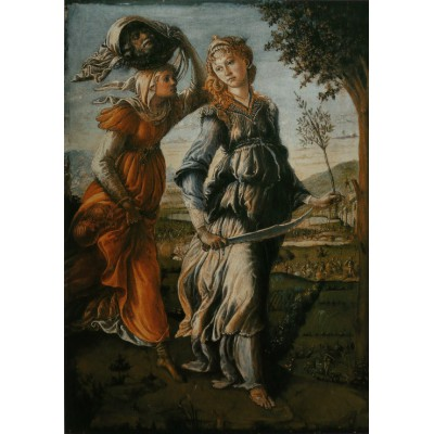 Puzzle  Grafika-00188 Botticelli Sandro : The return of Judith to Bethulia, 1470