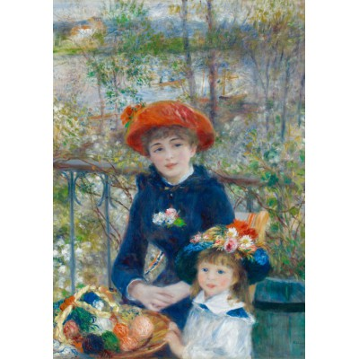 Puzzle  Grafika-00227 Auguste Renoir: The Two Sisters, On the Terrace, 1881