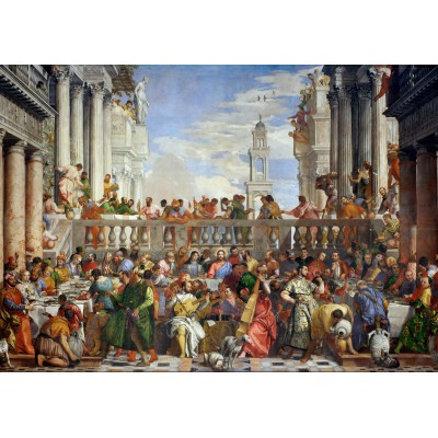 Puzzle  Grafika-00304 Paolo Veronese : The Wedding at Cana, 1563