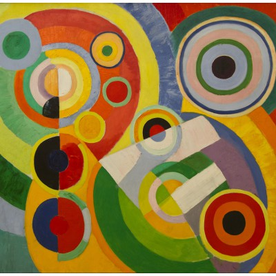 Puzzle  Grafika-00319 Robert Delaunay - Rhythm, Joy of Life, 1930