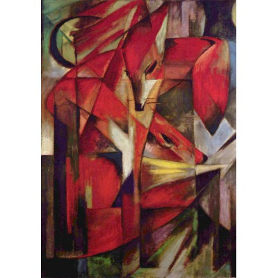grafika-Puzzle - 1000 pieces - Franz Marc: Füchse, 1913