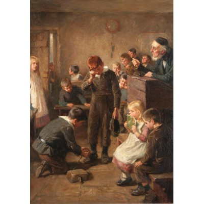 grafika-Puzzle - 1000 pieces - Ralph Hedley: The Truant's Log, 1899