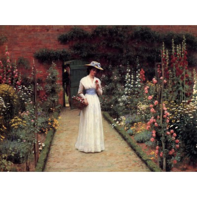 grafika-Puzzle - 2000 pieces - Edmund Blair Leighton: Lady in a Garden