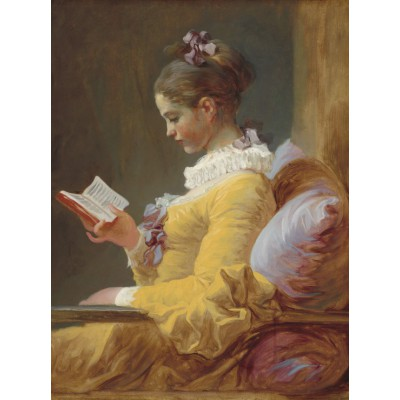 grafika-Puzzle - 2000 pieces - Jean-Honoré Fragonard - A Young Girl Reading, 1770