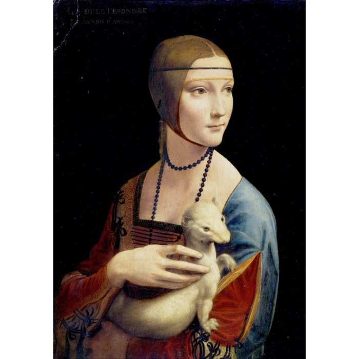 Puzzle Grafika-00409 Leonardo da Vinci - Lady with an Ermine, 1489