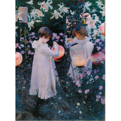 grafika-Puzzle - 2000 pieces - John Singer Sargent: Carnation, Lily, Lily, Rose, 1886