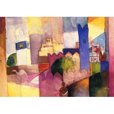 grafika-Puzzle - 1000 pieces - August Macke: Kairouan (III), 1914