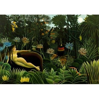 Puzzle  Grafika-00501 Henri Rousseau - The Dream, 1910