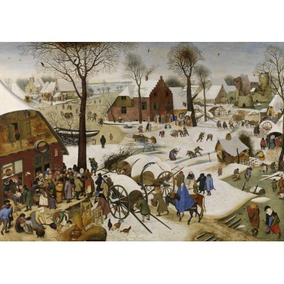 grafika-Puzzle - 1000 pieces - Brueghel Pieter: The Census at Bethlehem