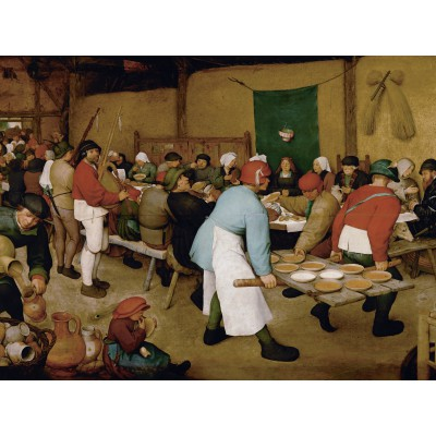 grafika-Puzzle - 2000 pieces - Brueghel : Peasant Wedding, 1567-1568