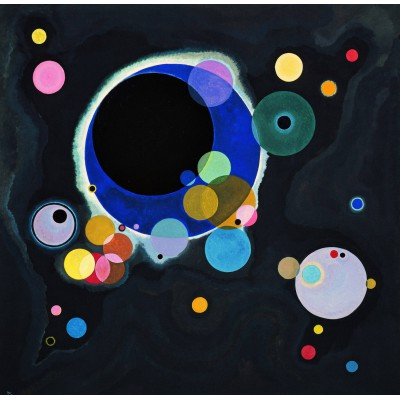 grafika-Puzzle - 1500 pieces - Vassily Kandinsky - Several Circles, 1926