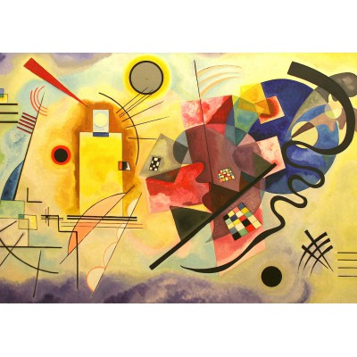 Puzzle  Grafika-00631 Vassily Kandinsky : Yellow - Red - Blue, 1925