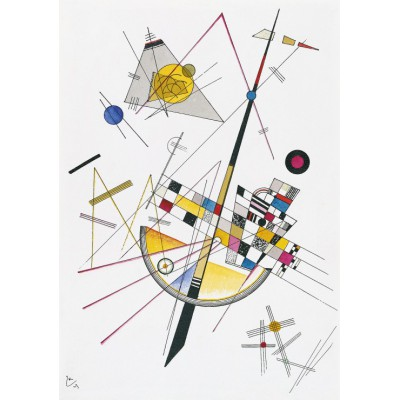 grafika-Puzzle - 1000 pieces - Wassily Kandinsky : Delicate Tension, 1923