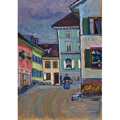 grafika-Puzzle - 1000 pieces - Wassily Kandinsky : Murnau, Top of the Johannisstrasse, 1908
