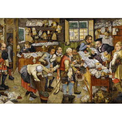 grafika-Puzzle - 1000 pieces - Brueghel Pieter the Younger: The Payment of the Tithes, 1617-1622