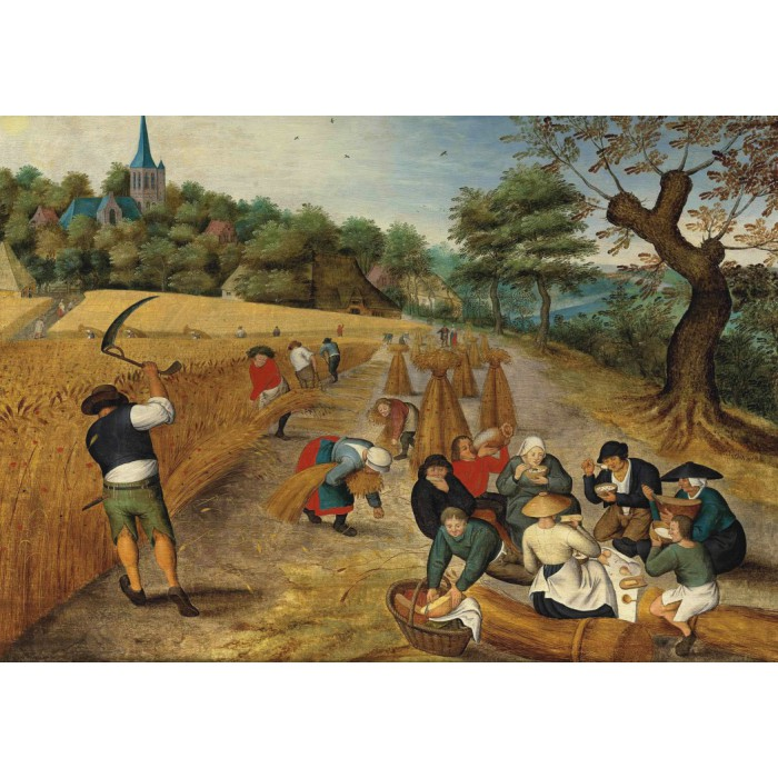 Puzzle Grafika-00684 Brueghel Pieter, the Younger : Summer: The Harvesters, 1623
