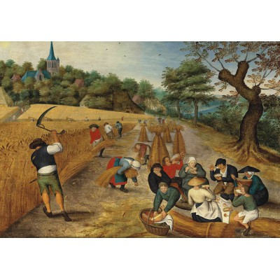 grafika-Puzzle - 1000 pieces - Brueghel Pieter, the Younger : Summer: The Harvesters, 1623