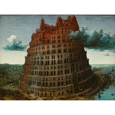 grafika-Puzzle - 2000 pieces - Brueghel : The Tower of Babel