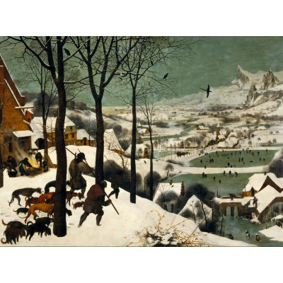 grafika-Puzzle - 2000 pieces - Brueghel : Hunters in the Snow