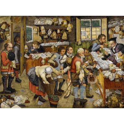 grafika-Puzzle - 2000 pieces - Brueghel Pieter the Younger: The Payment of the Tithes, 1617-1622