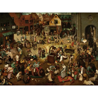 grafika-Puzzle - 2000 pieces - Brueghel Pieter: The Fight Between Carnival and Lent, 1559