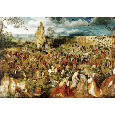 grafika-Puzzle - 1000 pieces - Brueghel Pieter: The Procession to Calvary, 1564