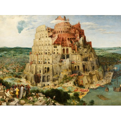 grafika-Puzzle - 2000 pieces - Pieter Bruegel the Elder - The Tower of Babel, 1563