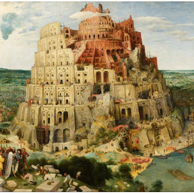grafika-Puzzle - 1500 pieces - Brueghel Pieter: Tower of Babel, 1563