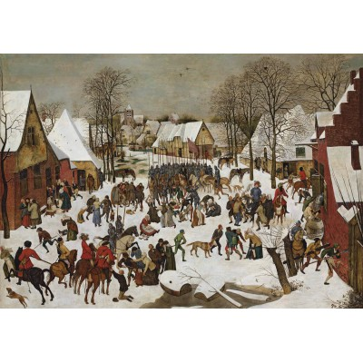 grafika-Puzzle - 1000 pieces - Brueghel Pieter: Massacre of the Innocents, 1566