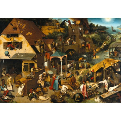 grafika-Puzzle - 1000 pieces - Brueghel Pieter: The Dutch Proverbs, 1559