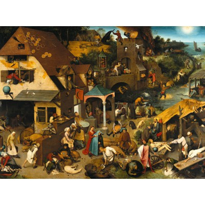grafika-Puzzle - 2000 pieces - Brueghel Pieter: The Dutch Proverbs, 1559