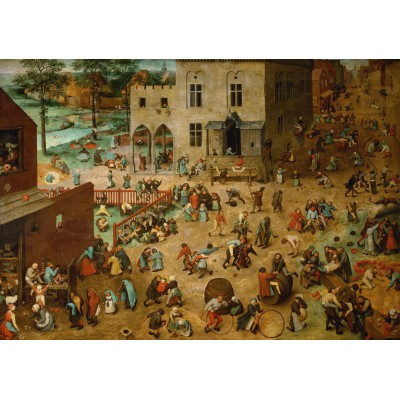 grafika-Puzzle - 1000 pieces - Brueghel Pieter: Children's Games, 1560