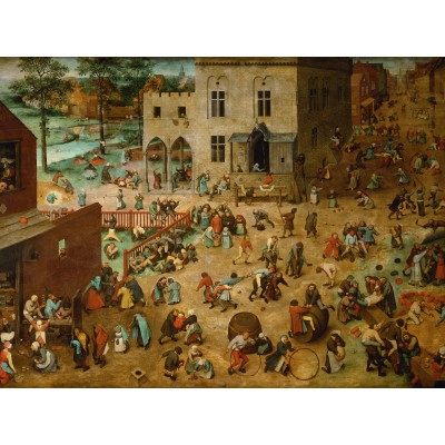 grafika-Puzzle - 2000 pieces - Brueghel Pieter: Children's Games, 1560