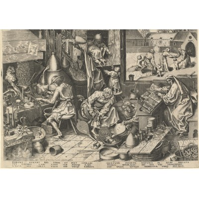 grafika-Puzzle - 1000 pieces - Brueghel Pieter: The Alchemist, 1558