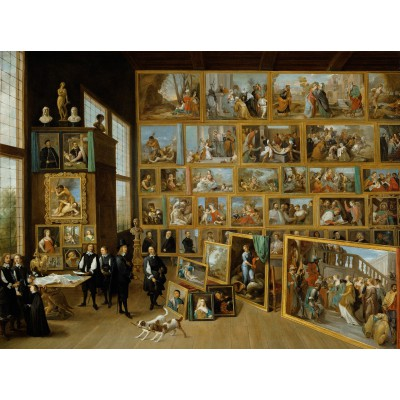 Puzzle  Grafika-00711 David Teniers:  The Art Collection of Archduke Leopold Wilhelm in Brussels.
