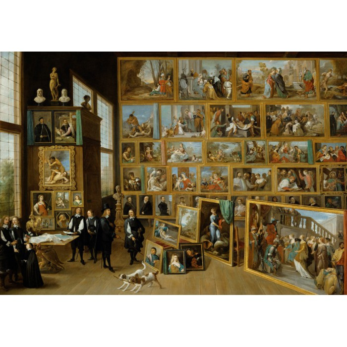 Puzzle Grafika-00712 David Teniers:  The Art Collection of Archduke Leopold Wilhelm in Brussels.
