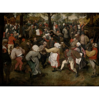 grafika-Puzzle - 2000 pieces - Brueghel Pieter: The Wedding Dance, 1566