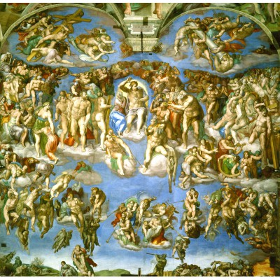 grafika-Puzzle - 1500 pieces - Michelangelo : Judgement Day
