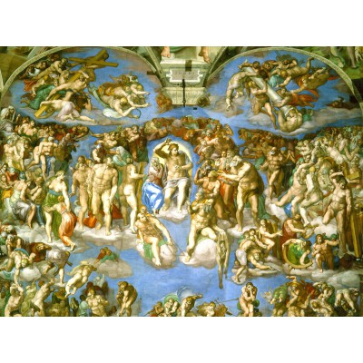 grafika-Puzzle - 2000 pieces - Michelangelo : Judgement Day