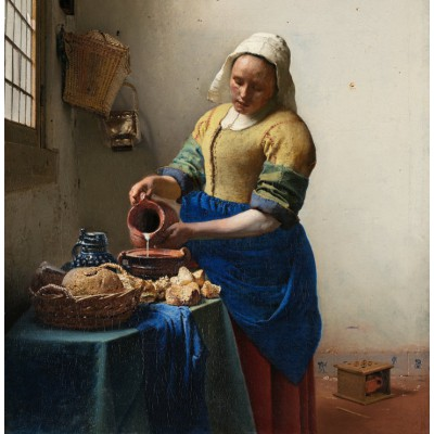 grafika-Puzzle - 1500 pieces - Vermeer Johannes: The Milkmaid, 1658-1661