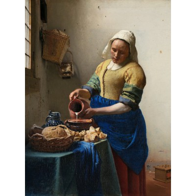 grafika-Puzzle - 2000 pieces - Vermeer Johannes: The Milkmaid, 1658-1661