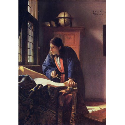 grafika-Puzzle - 1000 pieces - Vermeer Johannes: The Geographer, 1668-1669