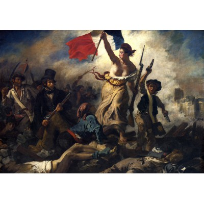 grafika-Puzzle - 1000 pieces - Eugène Delacroix - Liberty Leading the People, 1830
