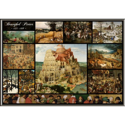 grafika-Puzzle - 1000 pieces - Collage - Pieter Bruegel the Elder