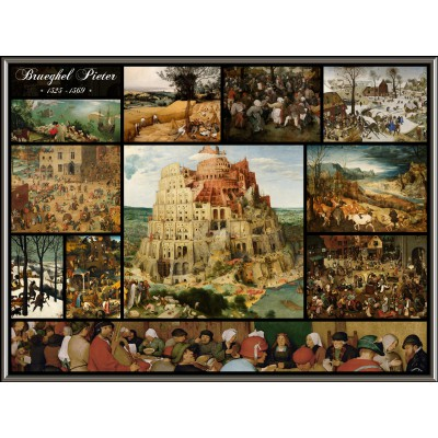 grafika-Puzzle - 2000 pieces - Collage - Pieter Bruegel the Elder